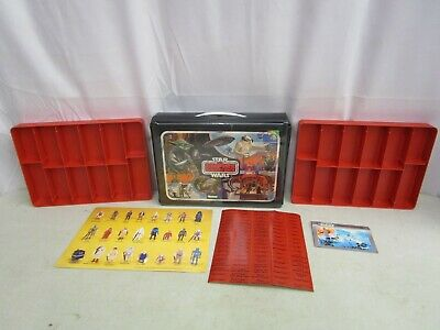 Kenner 1982 Star Wars Empire Strikes Back CARRY CASE W/RED TRAYS & UNUSED LABELS