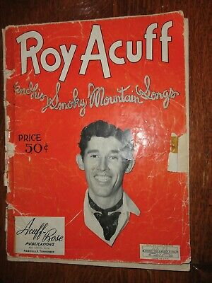 Roy Acuff and his Smokey Mountain Songs Songbook Copyright 1943