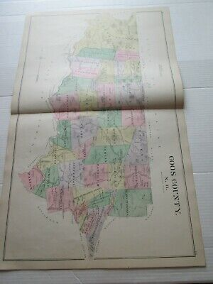 ;1892 New Hampshire Antique Map, Coos County, Colebrook & Po., Whitefield Po.