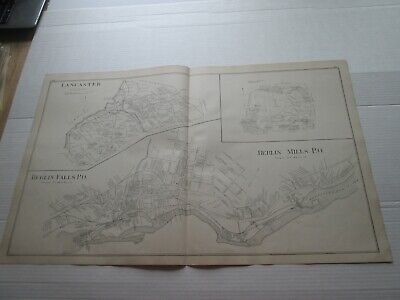;1892 New Hampshire Antique Map, Lancaster, Berlin Falls, & Mills, Lancaster, +