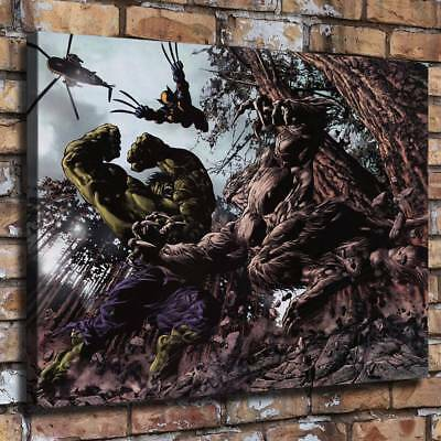 """16""""x22""""Avengers Hulk HD Canvas prints Painting Home decor Picture Room Wall art"""