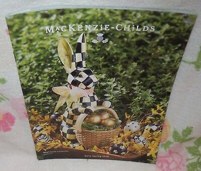 Mackenzie-Childs Early Spring 2016 Catalog ~128 Pages ~Lots Of Pictures ~Gc