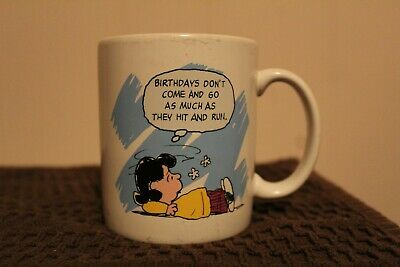 Vintage Peanuts Coffee Mug, Signed by Charles Schultz.