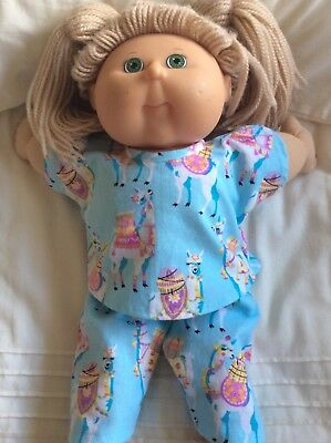 """DOLLS CLOTHES fit 16"""" CABBAGE PATCH DOLL - Pyjamas. Mint. Girly Camels"""