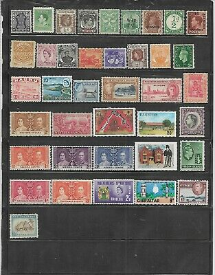 54 Different Mint British Colonies & Territories stamps.