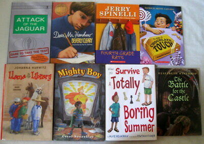 8 CHILDRENS BOYS CHAPTER BOOKS JERRY SPINELLI BEVERLY CLEARY AGES 7-13 VG+ to LN