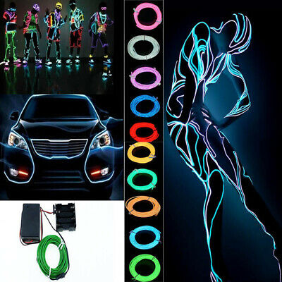 EL Wire Neon Ice Blue Lights LED Stick Figure Kit DIY Innovation for Clothes UK