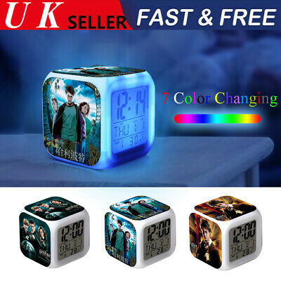 Harry Potter Hermione Alarm Clock 7-Color Changing Alarm Clock Chirstmas Gift UK