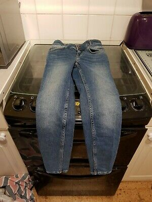 girls high waisted  blue jeans age 12 from new look