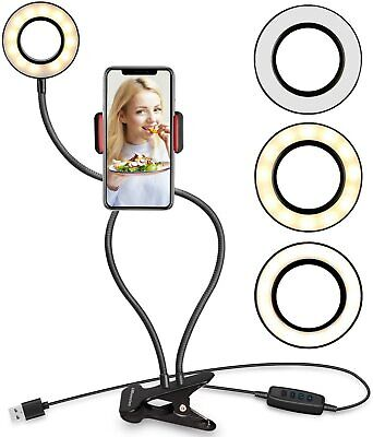 8'6000K Dimmable Diva LED Ring Light Diffuser Stand Mirror Make Up Studio Video