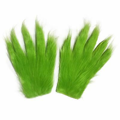 Grinch Plush Glove Christmas Halloween Deluxe Xmas Party Cosplay Costume Prop AU