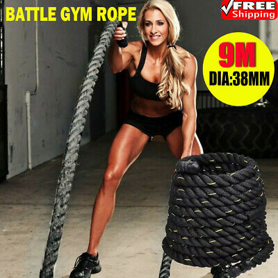 15M Battle Power Rope 38mm Battling Sport Bootcamp Gym Exercise Fitness Training