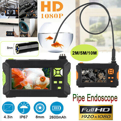 10m Pipe Inspection Camera Endoscope HD Video Sewer Drain Clean Waterproof 1080P