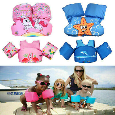Kids Babys Floaties Vest For Swimming Trainer Buoyancy Life Jacket with Arm Wing