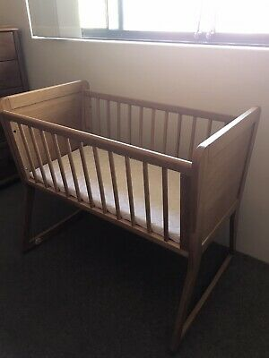Wooden bassinet-cribs-good condition