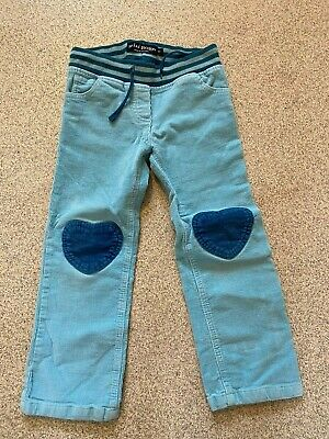 Girls Mini Boden Turquoise Cord Trousers Age 6 Years