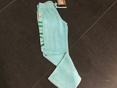 NWT Juicy Couture New & Gen. Turquoise Cotton Tracksuit Pants & Logo Girls Age 8