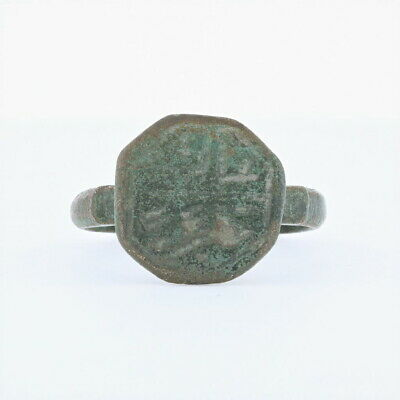 Ancient Roman Empire Copper Ring - RARE Signet Size 9.5-10 Legionary