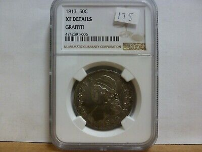 1813 Capped Bust Half Dollar NGC XF Details (Graffiti) #006