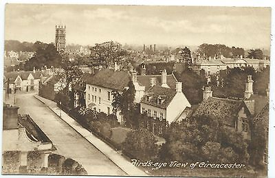 GLOUCESTERSHIRE - BIRDS EYE VIEW of CIRENCESTER  Postcard