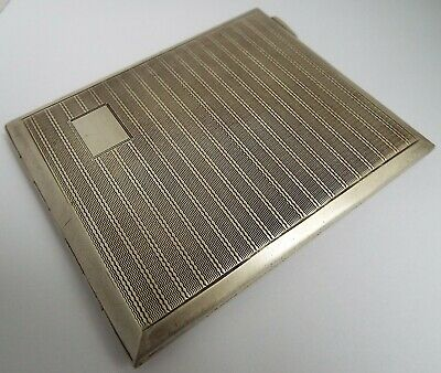 Superb Clean Large Heavy English Antique 1944 Sterling Silver Cigarette Case