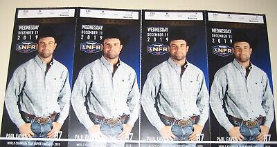 4-National Finals Rodeo Tickets NFR Low Balcony Wed Dec 11th 12/09/19 Sec 233 B