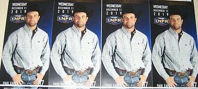 4-National Finals Rodeo Tickets NFR Low Balcony Wed Dec 11th 12/09/19 Sec 224 D