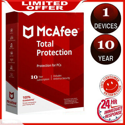 McAfee Total Protection 2019 Antivirus 🔥 1 Devices 10 Years 📥