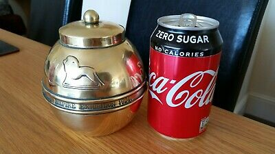 Vintage 1920's Lipton's Brass Tea Caddy with Lid Lovely Collectors Item