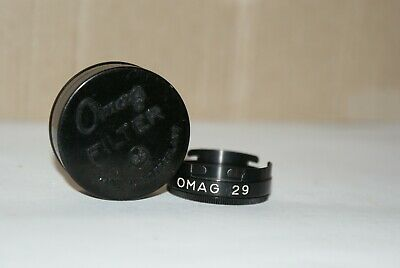 Vintage OMAG-Switzerland 29mm Push Fit Clear Filter With Case