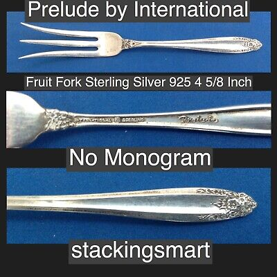 Prelude by International Sterling Silver 925 Fruit Fork No Monogram Collectable