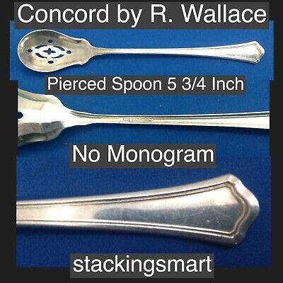 Concord by R.W. Wallace Sterling Silver 925 Pierced Spoon 5 3/4 Inch No Monogram