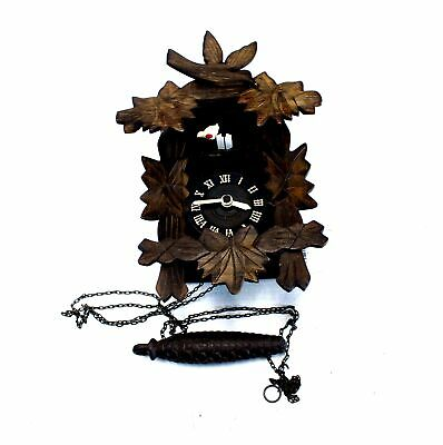 Retro Wooden Wall Hanging Cuckoo Clock UNBOXED/ INCOMPLETE - S90