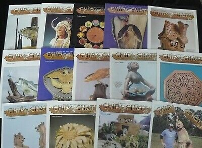 Lot of 14 Back Issues Chip Chats Wood Carving Woodworking Magazine 2008-2012