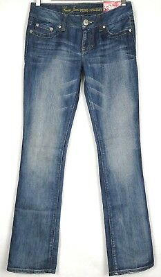 Guess Women's Jeans Pismo Straight Slim Blue Denim Size 28