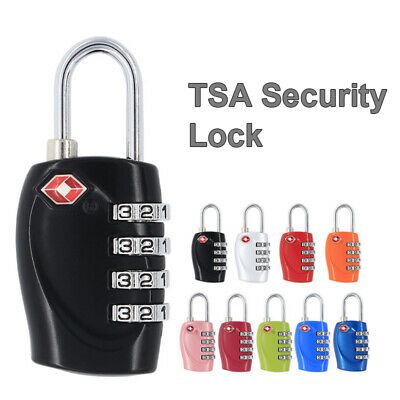 TSA Resettable 4-Digit Combination Lock Security Luggage Suitcase Padlock