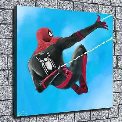 "12""x14""Spiderman Poster HD Canvas print Painting Home Decor Picture Wall art"