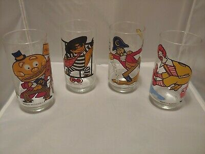 Vintage 1977 Collectible McDonald's Drinking Glasses - Set of 4 out of 6
