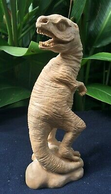 Dinosaur Carving Carved Figure Decor Tyrannosaurus  T-Rex Sculpture Kopi Wood