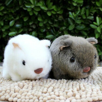 18cm White Grey Cheeky Hamster Repeats What You Say Pet Talking Plush Gift Toy