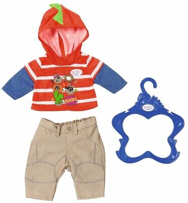 Baby Born Boy Doll Outfit Beige Trousers Brand New On Hanger 43 Cms Doll 3 Yrs +