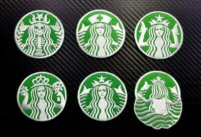 "STARBUCKS COFFEE LOGO  PATCH IRON ON OR SEW 2.80/"" ON US SELLER FREE SHIPPING"
