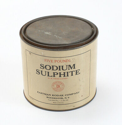 KODAK SODIUM SULPHITE, FIVE POUND CAN SOLD FOR DISPLAY ONLY/cks/200183