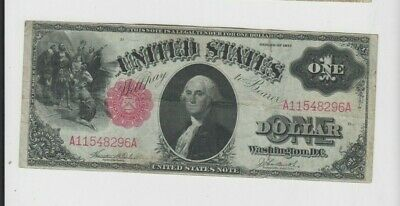 Legal Tender $1 1917 one old note fine-vf