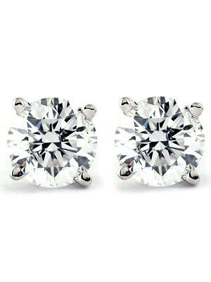 1.00Ct Round Brilliant Cut Natural Diamond Stud Earrings in 14K Gold Setting