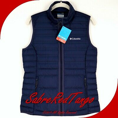 Nwt Columbia Sportswear Womens Mckay Lake 22 Down Vest 1838981 Nocturnal Navy S
