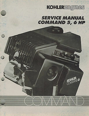 "Kohler Command  5 6 Hp  Engine Service Manual ""New"""