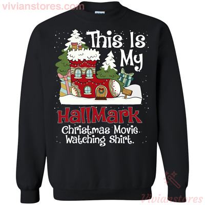This is My Hallmark Christmas Movie Watching SweatShirt Black