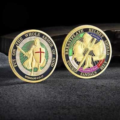 Put On the Whole Armor Of God Commemorative Challenge Coin Collection Gift Coins