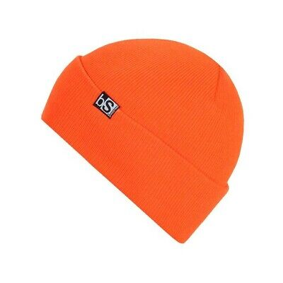 BlackStrap Essential Flip Tag Acrylic Beanie Bright Orange New